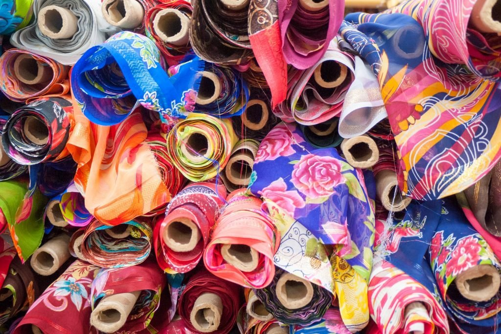 Colorful clothes in little India